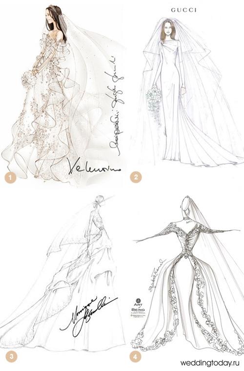 Свадебные платья по эскизу