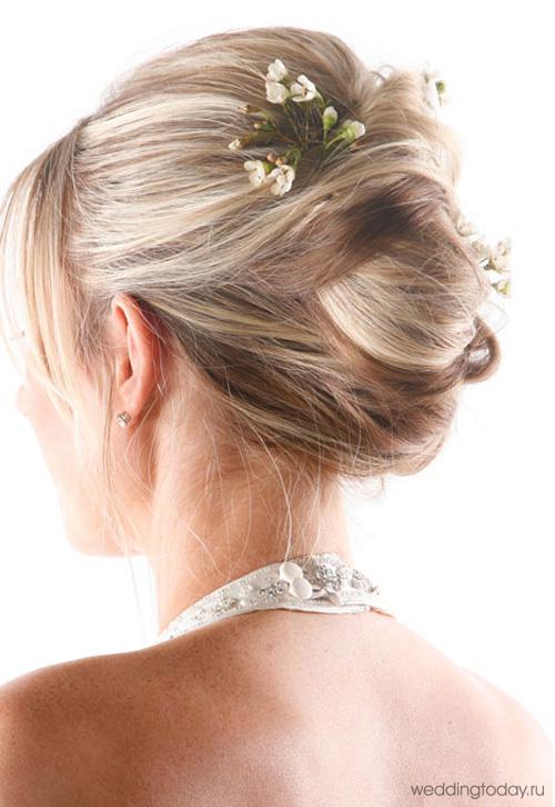собраные свадебные прически2011