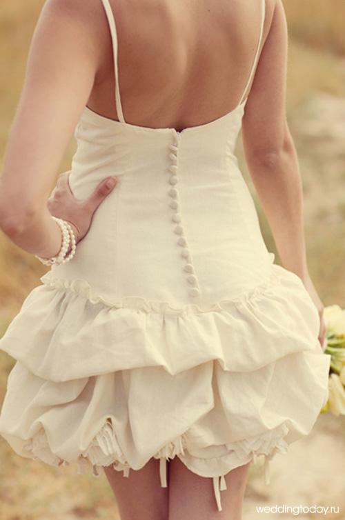 Короткое платье с пышной юбкой как сшить