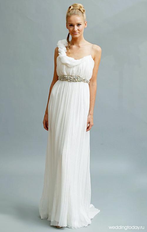 Изящные фасоны греческих платьев