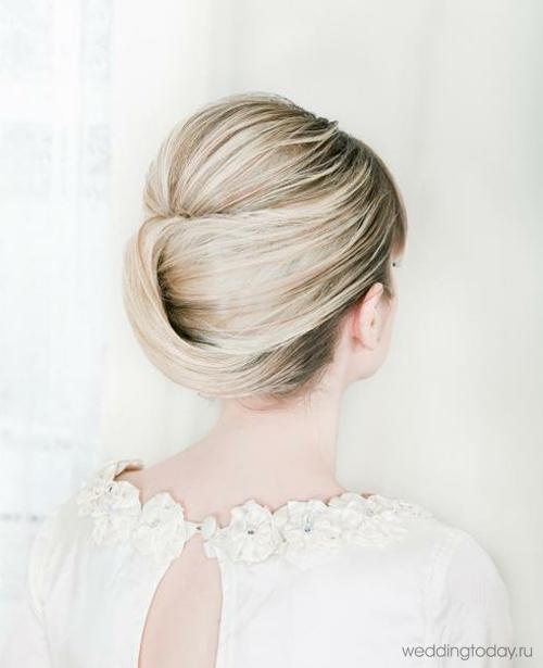 Как самой сделать прическу на свадьбу на волосы до плеч
