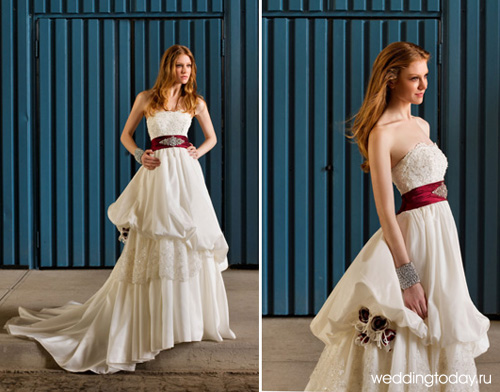 свадебные платья 2011 фото и прически
