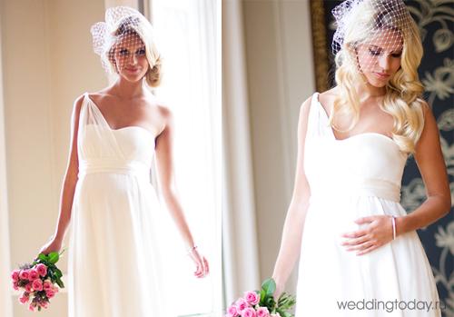 В этом году эти модели на пике популярности не только у беременных невест. Такие платья имеют завышеную талию