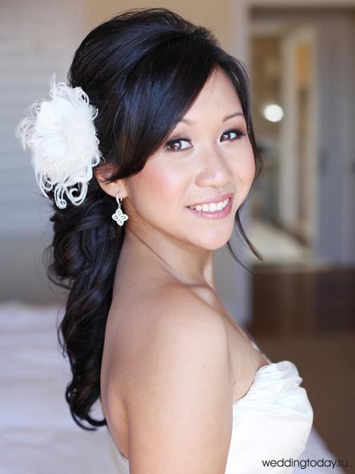 свадебные прически на длинные волосы Weddingtoday Ru