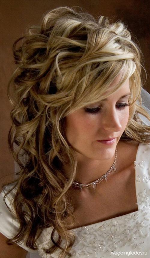 Прически для длинных волос для свадьбы