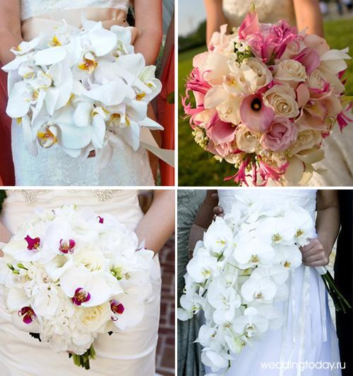 букет свадебный из орхидей фото