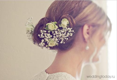 свадебные платья с цветами фото