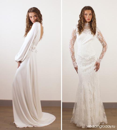 Свадебные платья с рукавами-фонариками