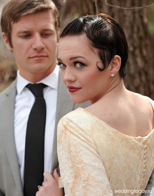 Свадебные платья в стиле ретро требуют соответствующей прически и.