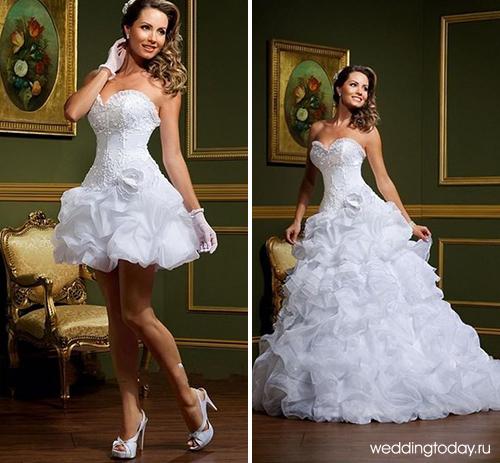 Короткие свадебные платья с и ценами