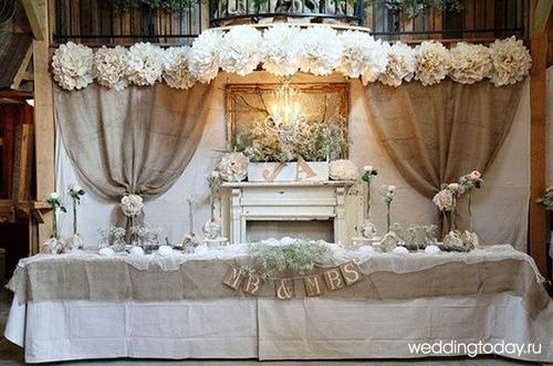 Декор и оформление свадьбы в стиле рустик. Фото   Weddingtoday.ru