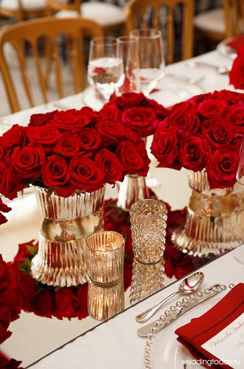 Свадьба бордово золотая