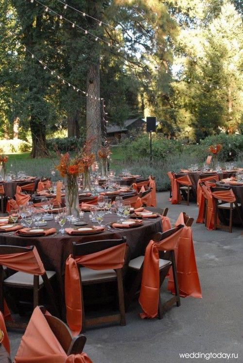 Свадьба в осеннем стиле: ресторан