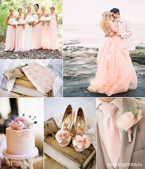 Свадьба в серо розовых тонах 75