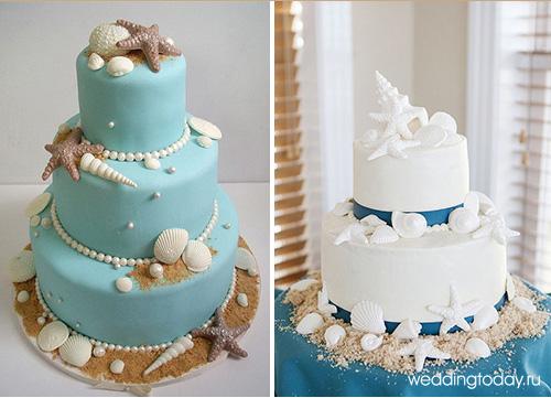 Конечно же, свадебный торт на морскую свадьбу должен быть выдержан в одном стиле. Гости придут в восторг от, украшенного морскими звездами