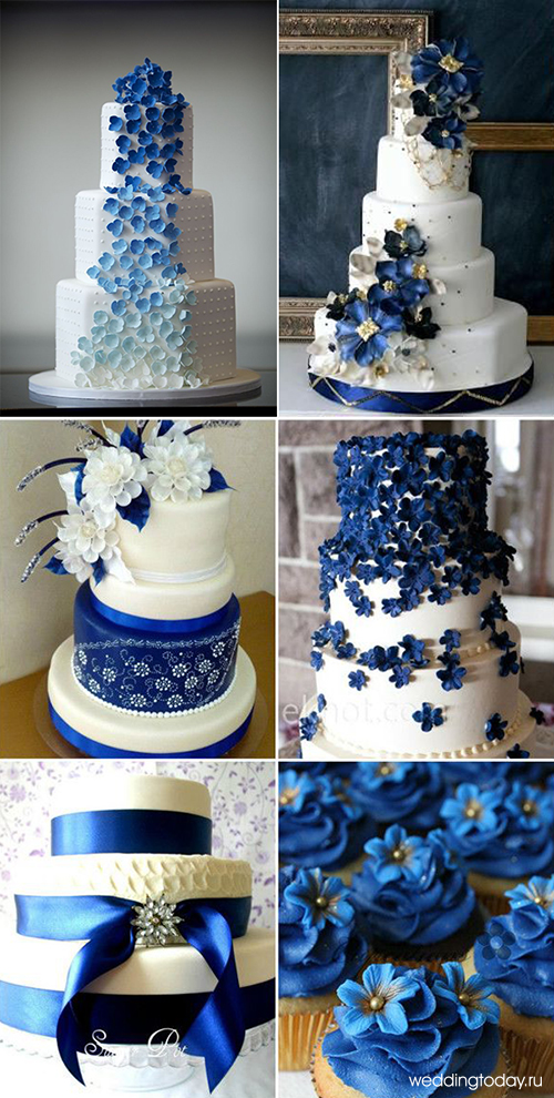 Бело синий цвет
