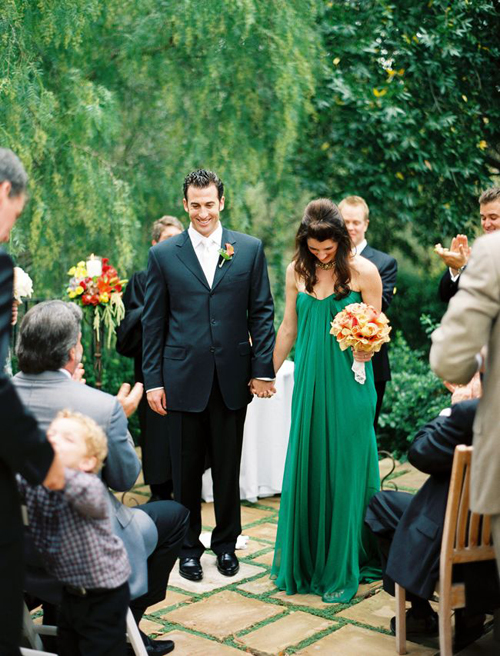 green-wedding-dresses-couple
