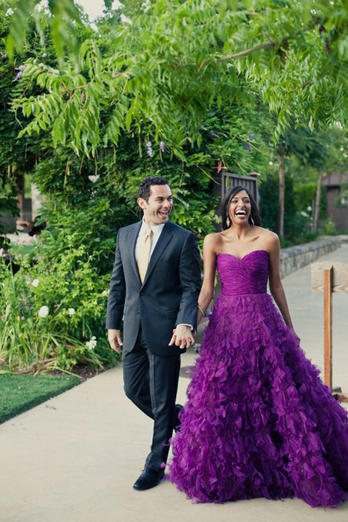 purple-wedding-dresses-couple-1