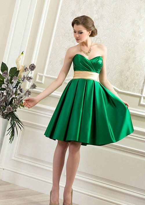 short-green-wedding-dresses