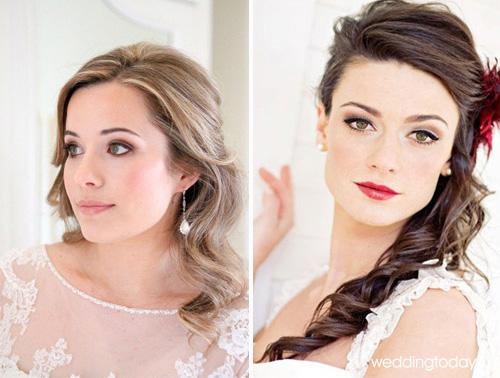 Свадебный макияж к темный волосами