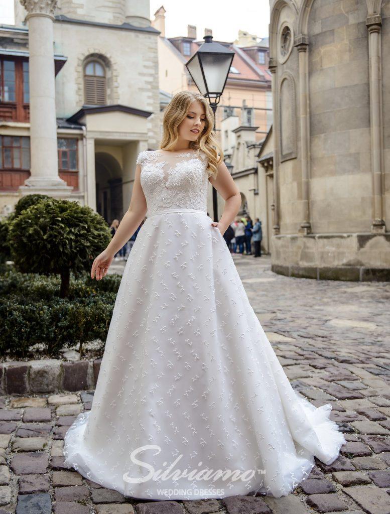Свадебное платье А-силуэта оптом